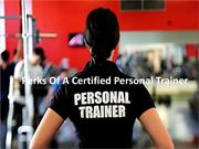 Perks Of A Certified Personal Trainer