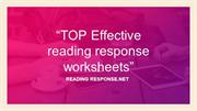 Top Effective Reading Response Worksheets