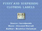 Funny and  surprising clothing  labels