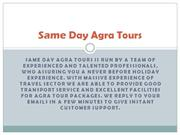 Agra Tour Package, Same Day Tour to Agra