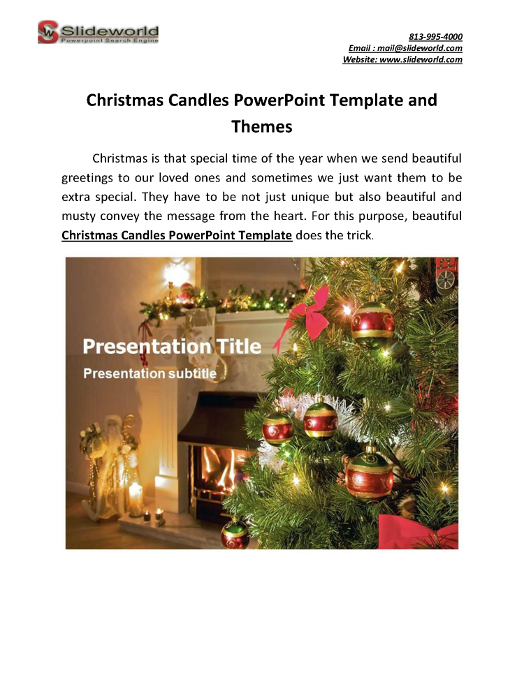 Christmas Candles Powerpoint Template And Themes Authorstream