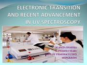 electronic transition and recent advancement in uv spectroscopy
