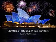 Christmas Party Water Taxi Transfers