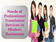 Needs of Professional Translation Services in Modern Businesses
