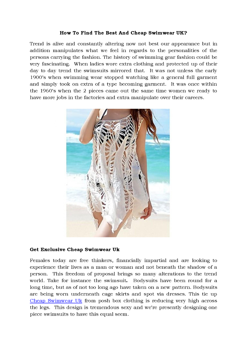 How to Find the Best And Cheap Swimwear UK? |authorSTREAM