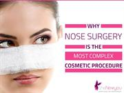 Why Nose Surgery Is The Most Complex Cosmetic Procedure