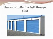 Reasons to Rent a Self Storage Unit