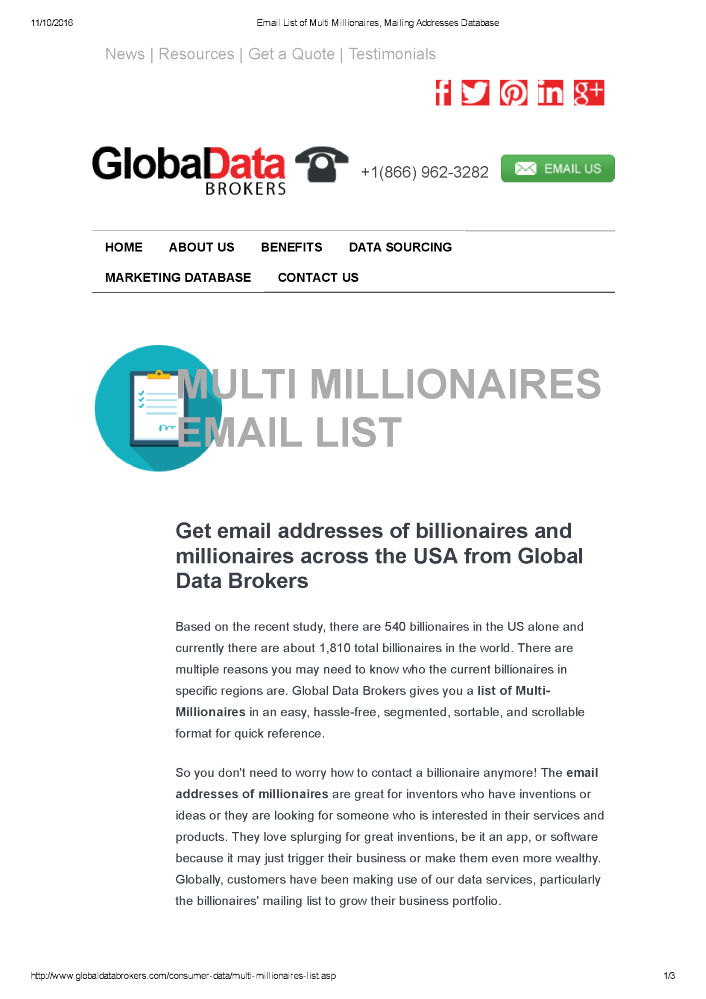 Email List of Multi Millionaires |authorSTREAM