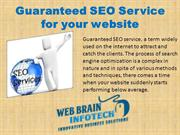 Guaranteed SEO Service for your website