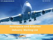 Aerospace and Aviation Industry Mailing List