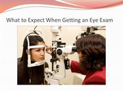 What to Expect When Getting an Eye Exam