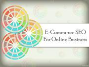 E-Commerce SEO For Online Business