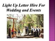 Light Up Letter Hire For Wedding and Events