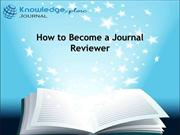How to become a journal reviewer| Free international Journal