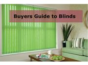 Buyers Guide to Blinds