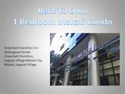 Rent To Own 1 Bedroom Makati Condo