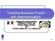 Business  French Through Macrosimulation