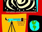 Variables and Measurements