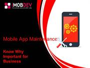Mobile App Maintenance: Know Why Important for Business