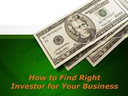 Sam Zormati – How to Find Right Investor for Your Business?