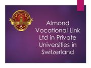 Almond Vocational Link Ltd in Private Universities in Switzerland