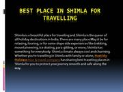 Best Place in Shimla for Travelling