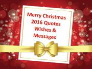 Happy Christmas 2016 Messages Quotes | Christmas Wshes Sayings