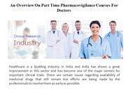 Part Time Pharmacovigilance Courses For Doctors