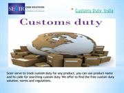 Get Customs Duty India for All Products from Seair