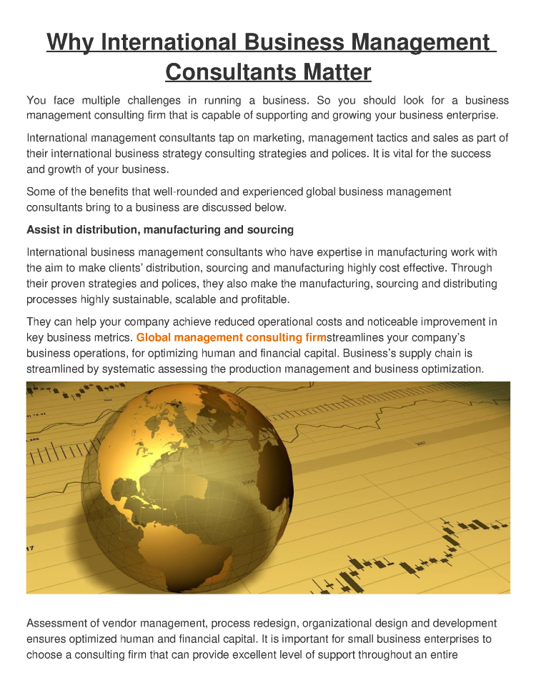 Why International Business Management Consultants Matter |authorSTREAM
