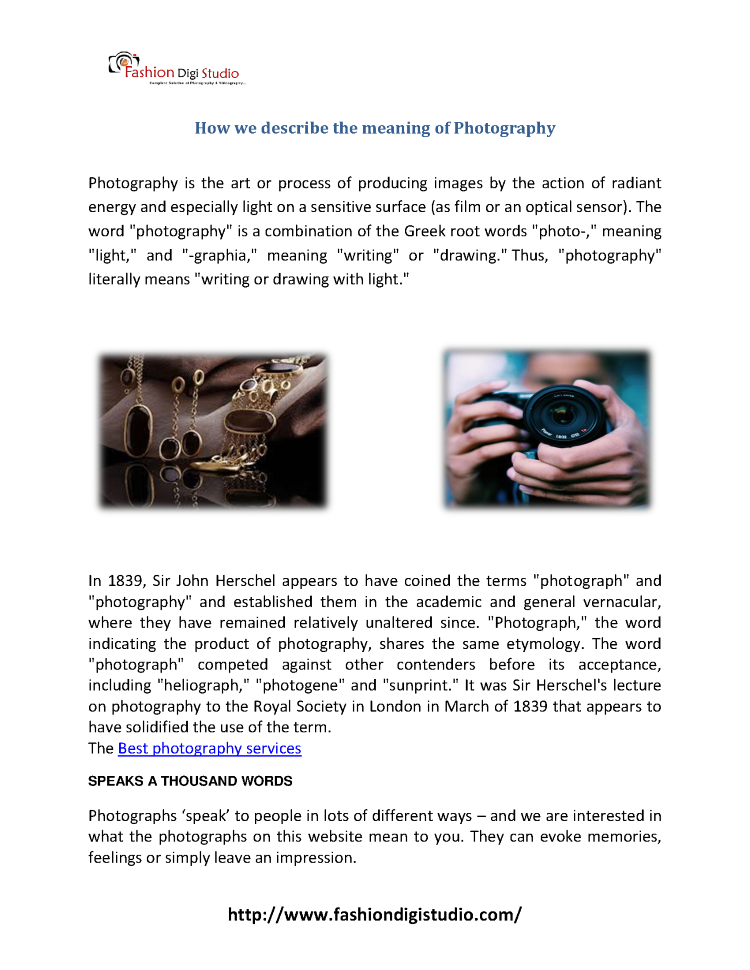 How We Describe the Meaning of Photography |authorSTREAM