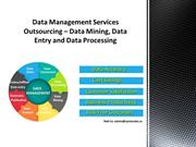 Data Management Services Outsourcing – Data Mining, Data Entry and Dat