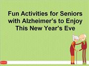 Fun Activities for Seniors with Alzheimer's to Enjoy This New Year