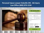 Oakville ON Personal Injury Lawyer