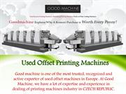 Offset And Post-Press Machines In Europe