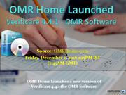 OMR Home Launched Verificare 4.4.1 - OMR Software