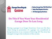 Do This If You Want Your Residential Garage