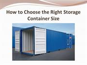 How to Choose the Right Storage Container Size