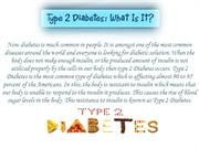 Know More of Type 2 Diabetes