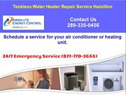 Tankless Water Heater Repair Hamilton - Absolute Energy Control