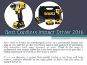 Best cordless impact driver 2016