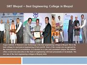SIRT Bhopal - Best Engineering College in Bhopal