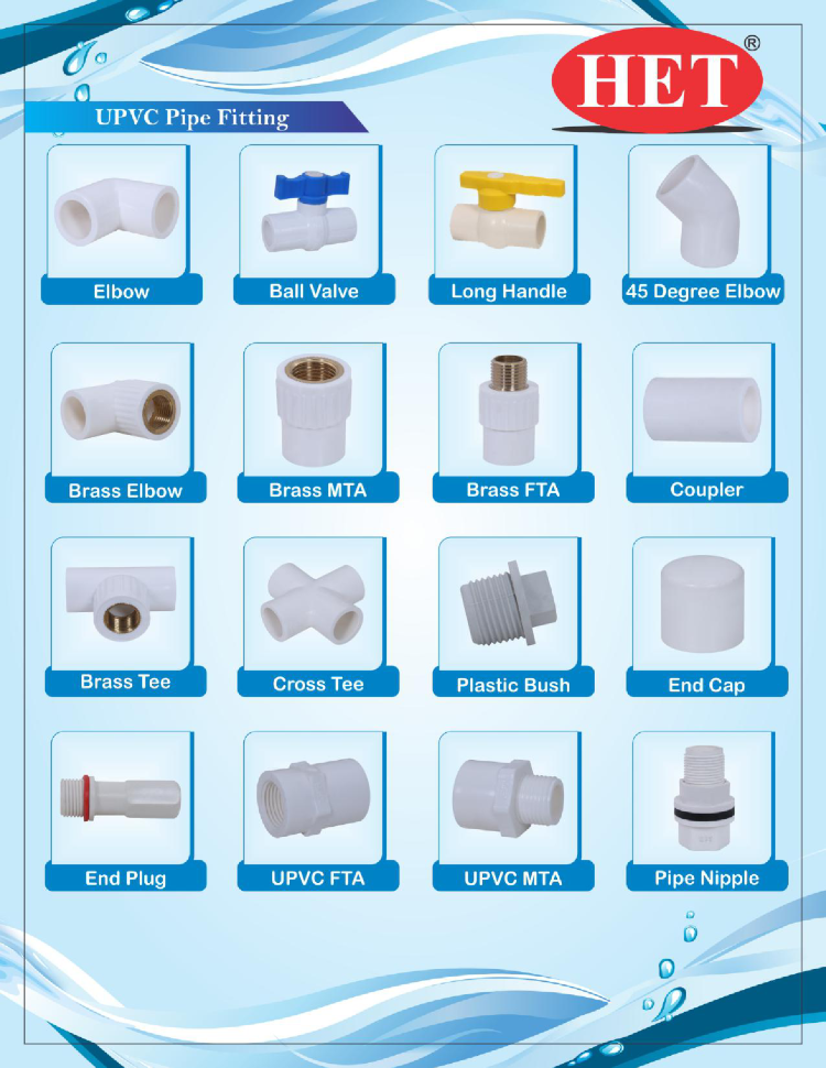 UPVC Pipe Fitting, UPVC Pipe Fittings, Manufacturere, Supplier