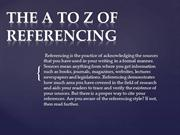 THE A TO Z OF REFERENCING