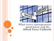 Alfred Terry Culbreth -What every entrepreneur must know and do
