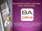 Bacera stainless steel kitchen sink Singapore