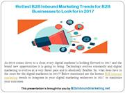 Hottest B2B Inbound Marketing Trends for B2B Businesses to Look for in