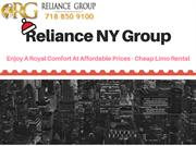 Reliance NY Group - Enjoy A Royal Comfort At Affordable Price