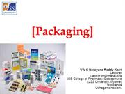 Packaging (Pharmaceutics)