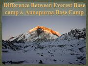 Difference Between Everest Base camp & Annapurna Base Camp